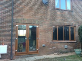 Oak on White Upvc Windows