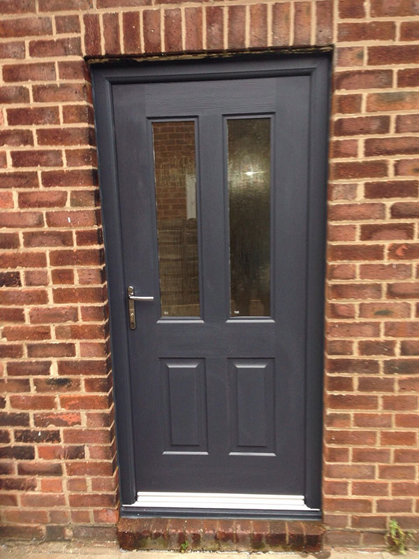 Grey upvc front doors home design for Composite windows