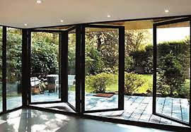 Bi-folding doors 4 pain half open Cheadle Hulme