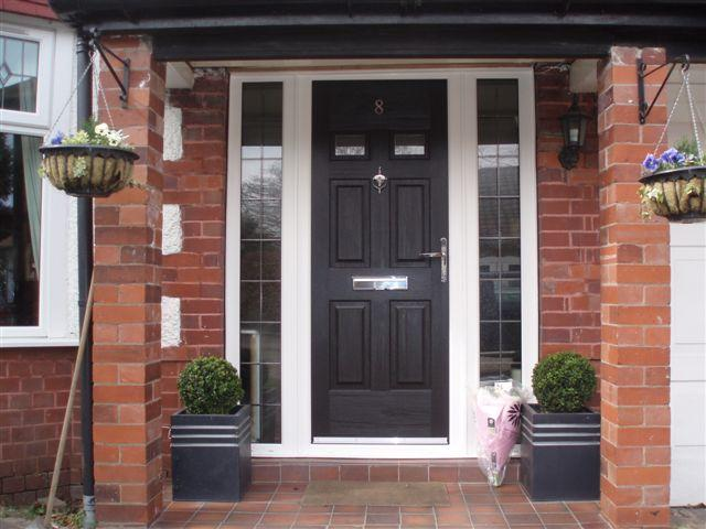 Why fit a composite door citizen windows upvc windows for Cheap black exterior doors